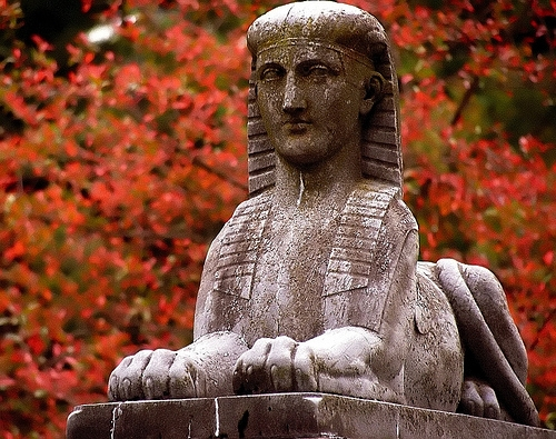 Cincinnati  Spring Grove Cemetery & Arboretum Sphinx In Autumn